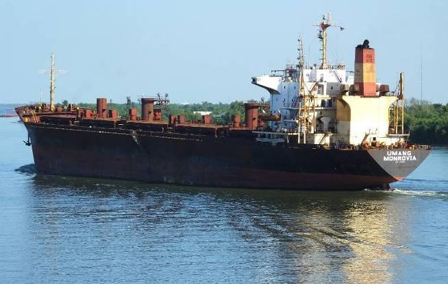Umang (ex-sveti Vlaho, ex-thalassini Doxa, ex-carol, ex-garoufalia). IMO 8306826. Bulk carrier. Length 189 m, 8,830 t. Liberian flag. Classification society Lloyd's Register of Shipping.