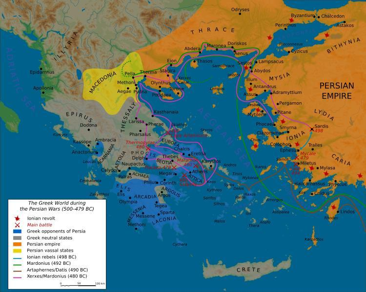 PERSIAN WARS: Why? Effects? Delian League 479 BCE Herodotus?