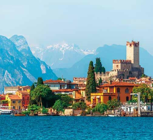 Christmas in Lake Garda 8 DAYS included 7 nights with dinner, bed & breakfast Trento Christmas Market Lake Garda 799 Verona Malcesine Stretching over thirty miles from rolling plains in the