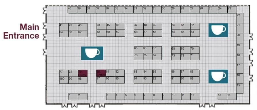 Exhibition Hall Layout & Booth Details 52 booths are remaining (48 booths have