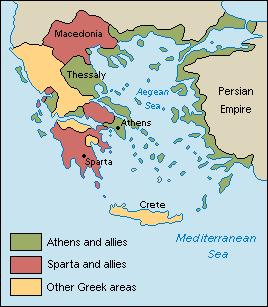 Alliances Between City-States l After the Persian War, Sparta and Athens started to mistrust each other.