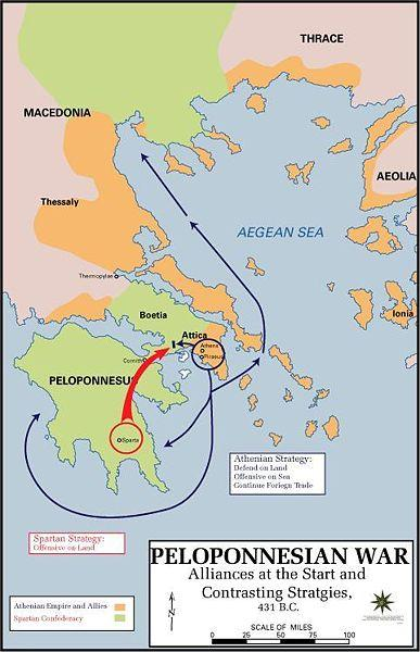 Peloponnesian War l The rivalry between the two city-states erupted in the