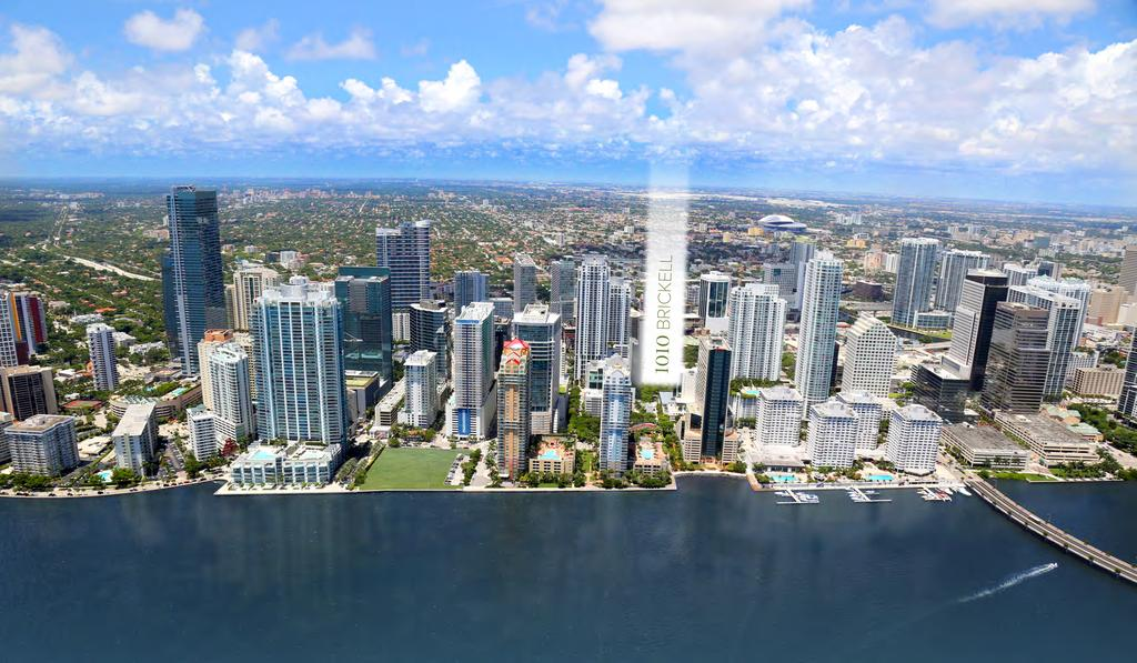 LOCATION & AERIAL VIEW Located on Brickell Ave, one block