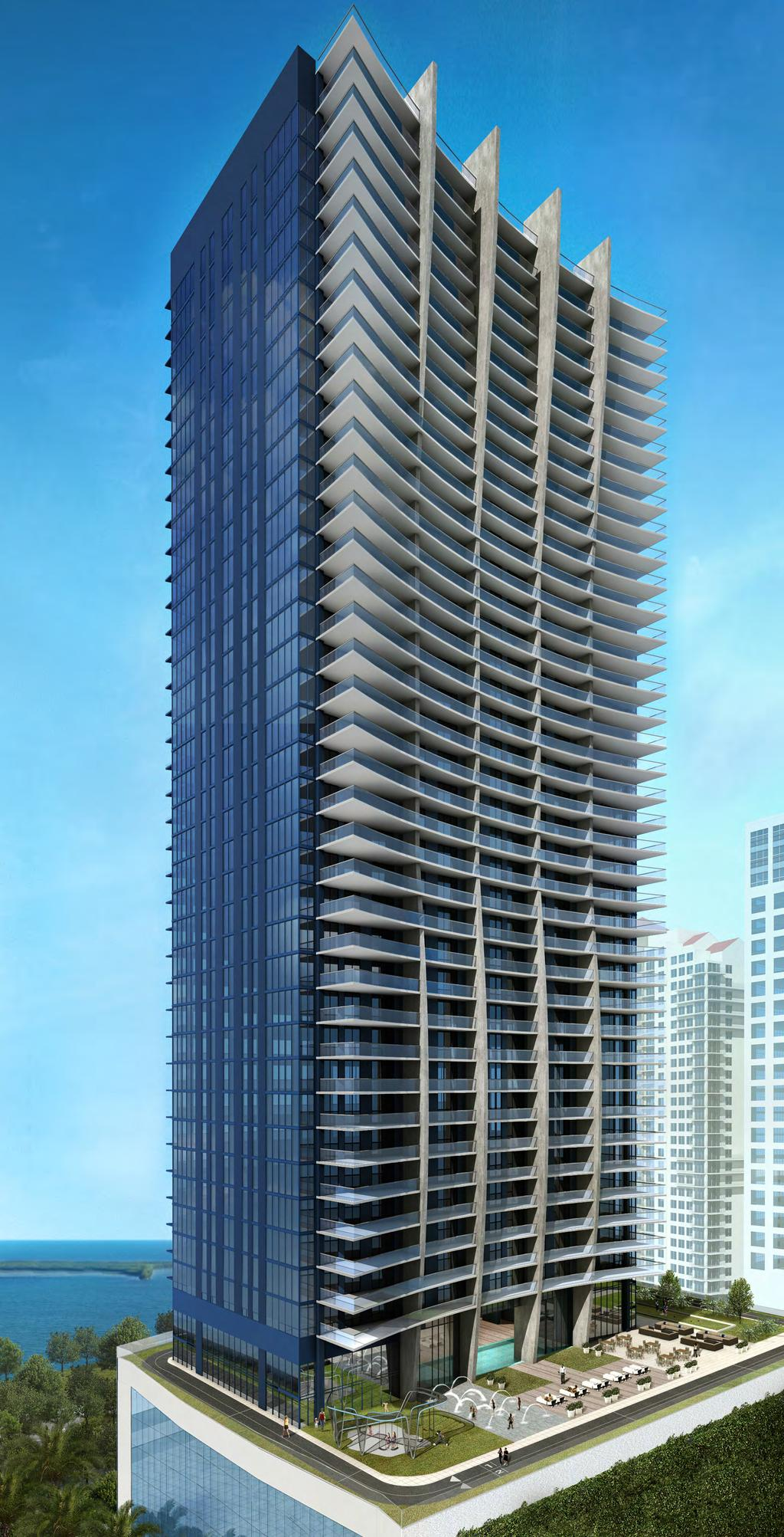 THE PERFECT 10 An iconic 50-story-tower with reflective glass facade and curvilinear profile designed by world-renowned The Sieger Suarez
