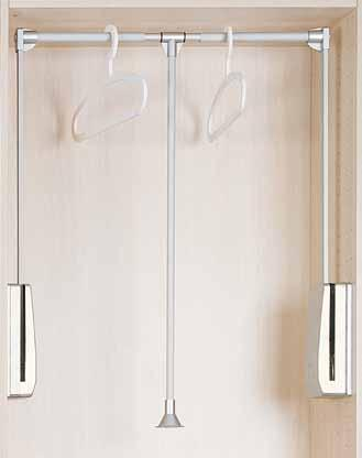 -1 Clothes Hanger Accessories AW1111 Wardrobe Lift (Pull-Down Closet Rod) * Side mount, three