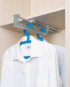 (front) -1 Clothes Hanger Accessories AW5105BF Pull-Out Closet Rod Supporter * Ergonomic design for easier access to clothes hung under low shelf and better viewing from tall narrow cabinet *