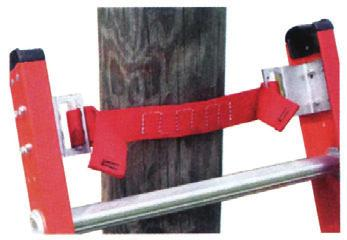 Padded V-Rung Kit Slip resistant rubber grip attached to steel v-rung for wood, metal, or concrete poles.
