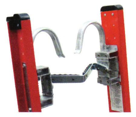 Cable hooks can be mounted above or below top rung. Cable hooks come with mounting hardware and instructions.