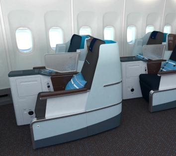New in-flight service New business class at KLM Air France longhaul