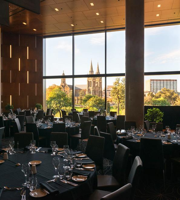 MEETING DINNER SPONSOR $11,000 1 opportunity available Thursday 22 October 2015 The Meeting Dinner will be held in the elegant Cathedral Room, located on level three of the Eastern Stand of Adelaide