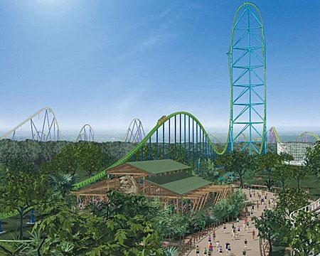 Great Adventure Packet 15 KONQUERING KINGDA KA Kingda Ka is the tallest and fastest rollercoaster in the world, rising to a height d) of What 456 feet multiple and obtaining is this acceleration a