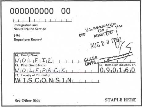 latest F-1 visa stamp - I-94 record or I-94 card (from