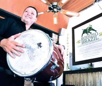 Brazilians love to do a barbeque on Sundays, they get together, prepare the food, listen and dance to Samba and drink, says Churasco Executive Chef and Manager Auriberto Auri Santos, I took part in