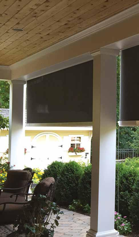 EXTERIOR SCREENS BLOCK THE SUN NOT YOUR VIEW LET US CREATE THE PERFECT OUTDOOR ENVIRONMENT FOR YOU TO ENJOY YEAR LONG Design and functionality The patented DuraShade Exterior Solar Screen Systems are