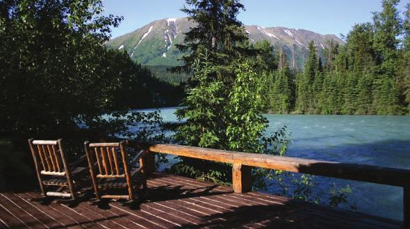Access Approximately a two hour road trip from Anchorage, Kenai Riverside Lodge is located in Cooper Landing, Alaska. Activities Rafting, fishing and hiking.