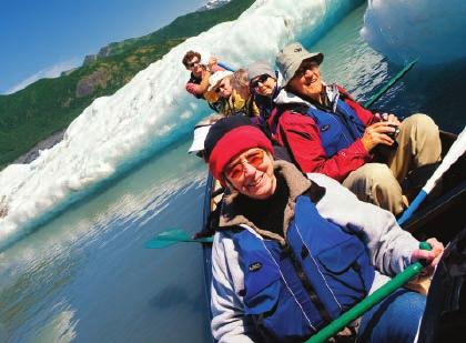 Board our private vessel, and embark on a search for whales, otters, puffins and more in Kenai Fjords National Park.