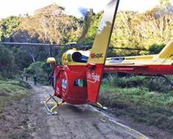 My mates tried to assure me I was okay, but I could feel my boots warming up and overflowing with blood. Our Westpac Rescue Helicopter team was able to land in a small clearing.