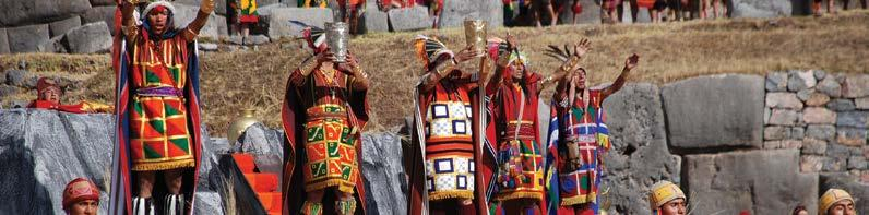 PEREGR I NE T R I P Raymi Temple, Peru Peru Inti Raymi & Archaeology 21 Days Days 1-2 Lima Welcome to Lima, where the delights and personality of modern Peru jostle for attention among the remnants