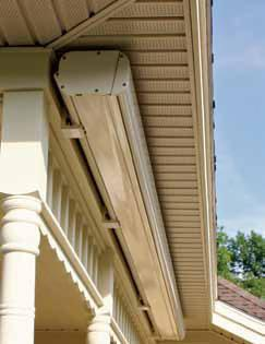 With only a six inch header once again the K300 Retractable Awning with an