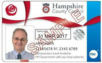 CONCESSIONARY BUS PASSES Important Information regarding passes expiring 31 March 2017 Hampshire County Council new concessionary bus passes will be issued prior to expiry in March 2017.