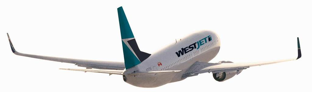 WHY INVEST IN WESTJET Earnings margins are consistently among the top tier in the industry Proven track record of profitable growth Well-positioned, low-cost and efficient carrier