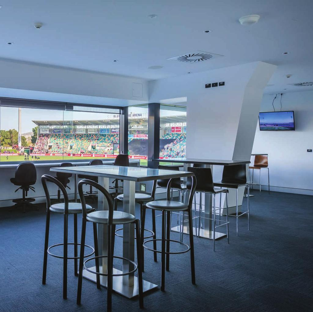 PRIVATE SUITE BLUNDSNE ARENA STARTING FROM $0pp Upgrade to a Premium Tasmanian food and beverage package for an extra $50pp.