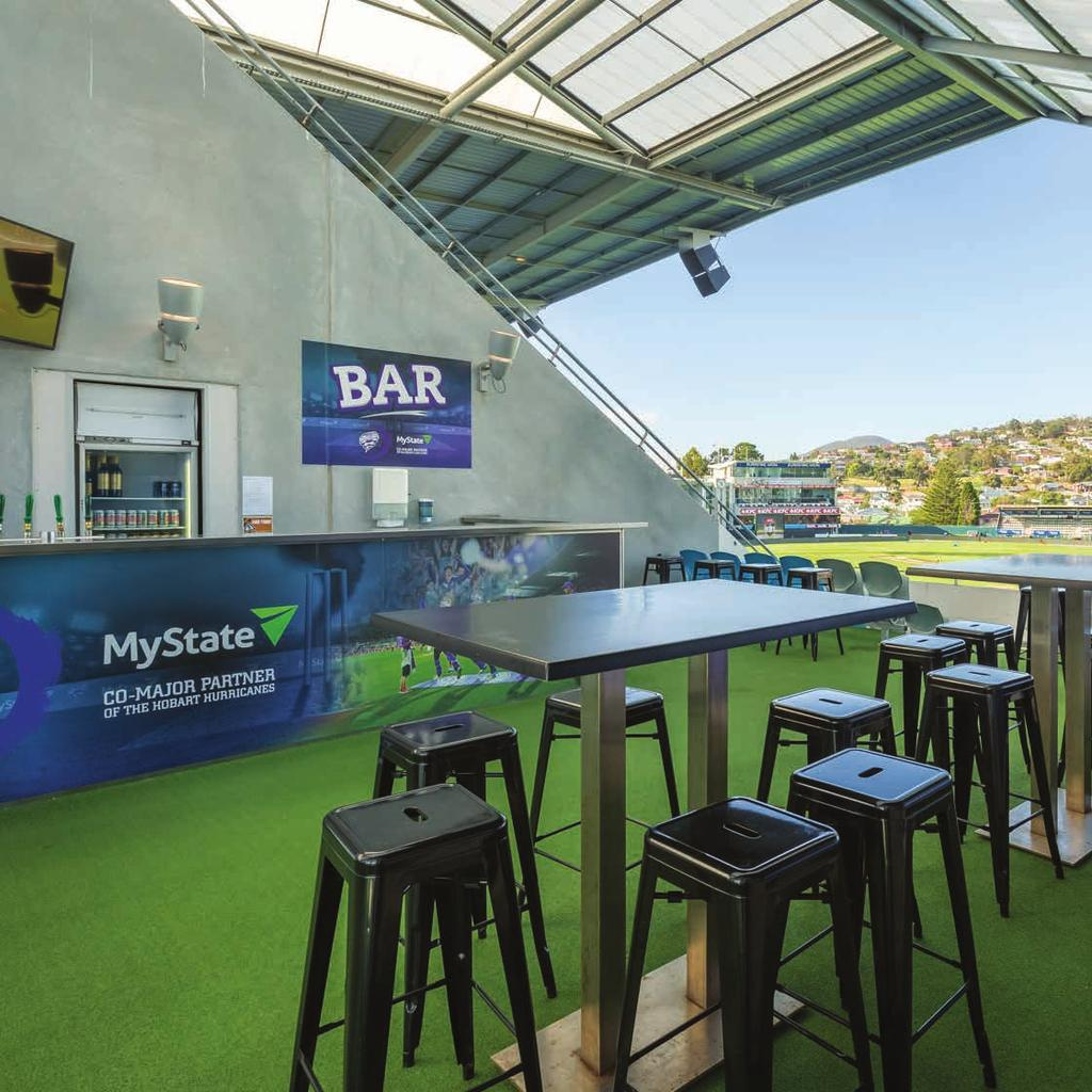 BLUNDSNE ARENA THE DECK STARTING FROM $50pp Upgrade to a Premium Tasmanian food and beverage package for an extra $50pp. The ultimate standard in casual hospitality!