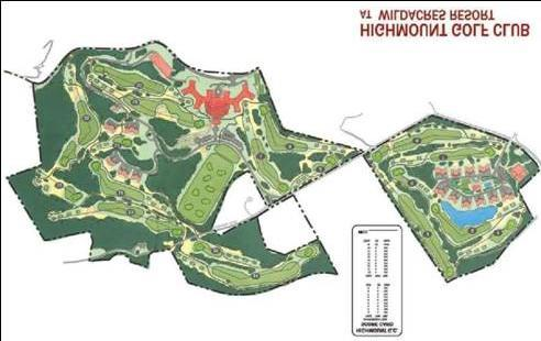 HVS Description of the Real Estate 2-18 Highmount Golf Club Layout This component will also include a community of vacation ownership units.