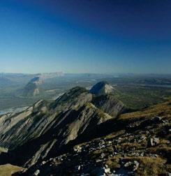jpg In this northward view from Nahanni Mountain at the north end of the Ecoregion, the North Nahanni River cuts between the Nahanni Range and