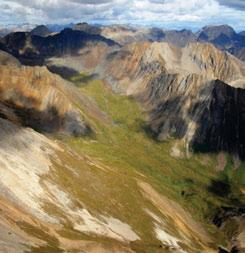 3.8.2 Sapper Ranges MBas Ecoregion The southwest portion of the Ecoregion is a complex of rugged Paleozoic and Precambrian dolomites,