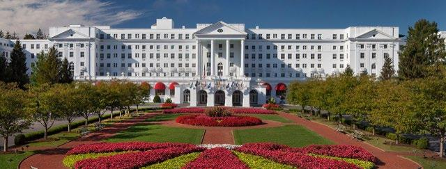 2. THE GREENBRIER AN OVERNIGHT STAY FOR TWO Sponsored by Erin & Tim Whaley and The Greenbrier Estimated Value $900 Located amid the breathtaking mountains of West Virginia, The Greenbrier is a