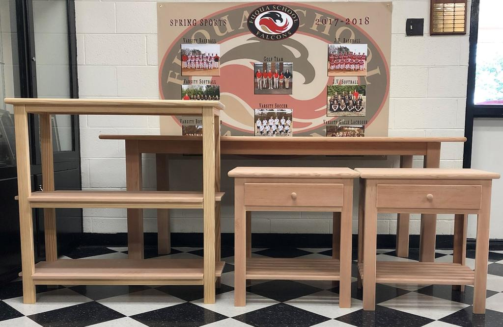 5. GILMER GYM BLEACHER WOOD FURNITURE BY LOCAL CABINETMAKER HARDY KELSEY Sponsored by Hardy Kelsey and Fuqua School Estimated Value $750 Dining Room Table Estimated Value $500