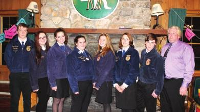 Wiisquam Ag studets atted Leadership Camp TILTON Seve motivated members of the Wiisquam FFA Chapter spet the weeked of Ja.