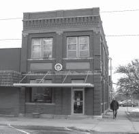 It is an historic building (a bank at one time) on the south end of the east side of the village square.