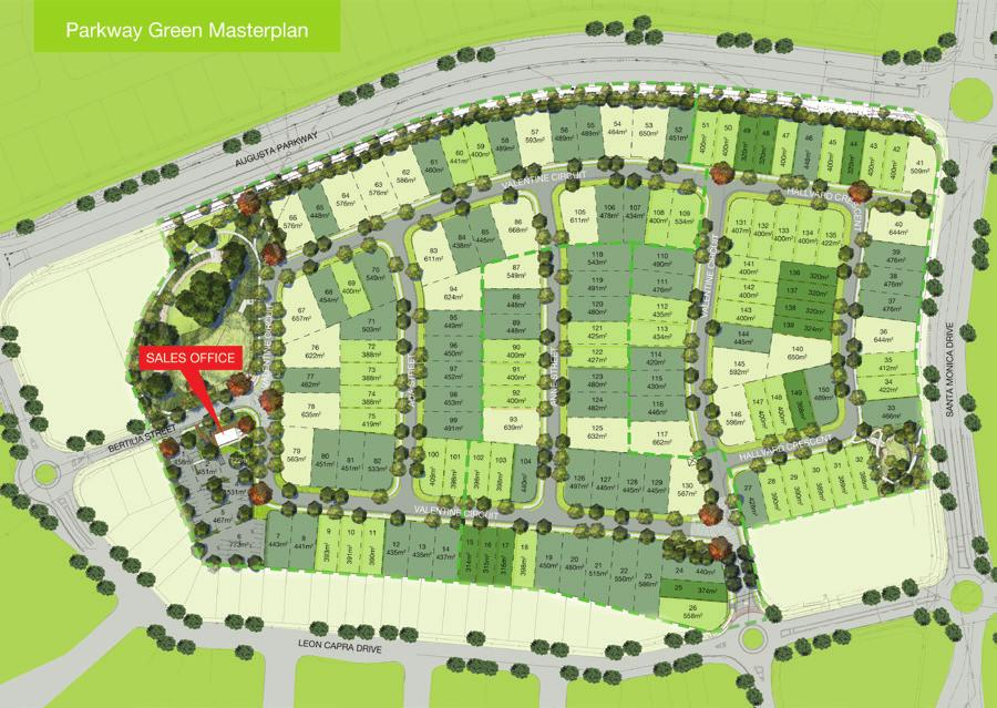 xxxxx Master Plan Parkway Green is a limited release of various sized