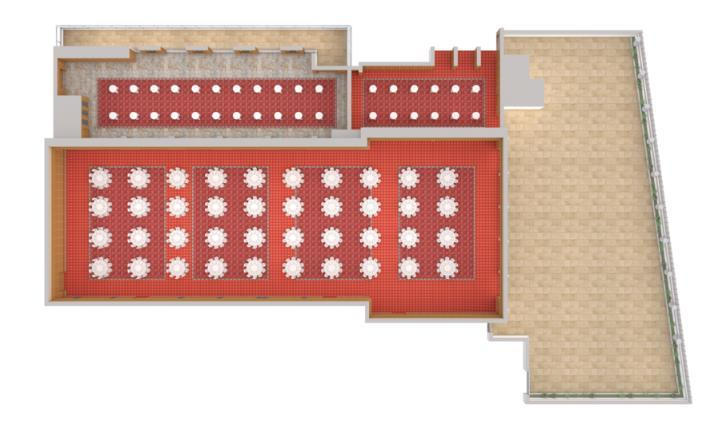 KING SOLOMON HALL OUR FLOORPLAN YOUR DESIGN Total Sq. Ceiling Dinner & Room Size Ft.
