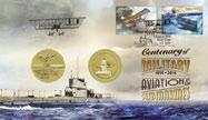 12 Release date 5 August 2014 Centenary of Military Aviation and Submarines Technical Details Issue date 5 August 2014 FDI 3 Sept 2014 withdrawal Denomination 2 70c (se-tenant) Stamp design Jamie and
