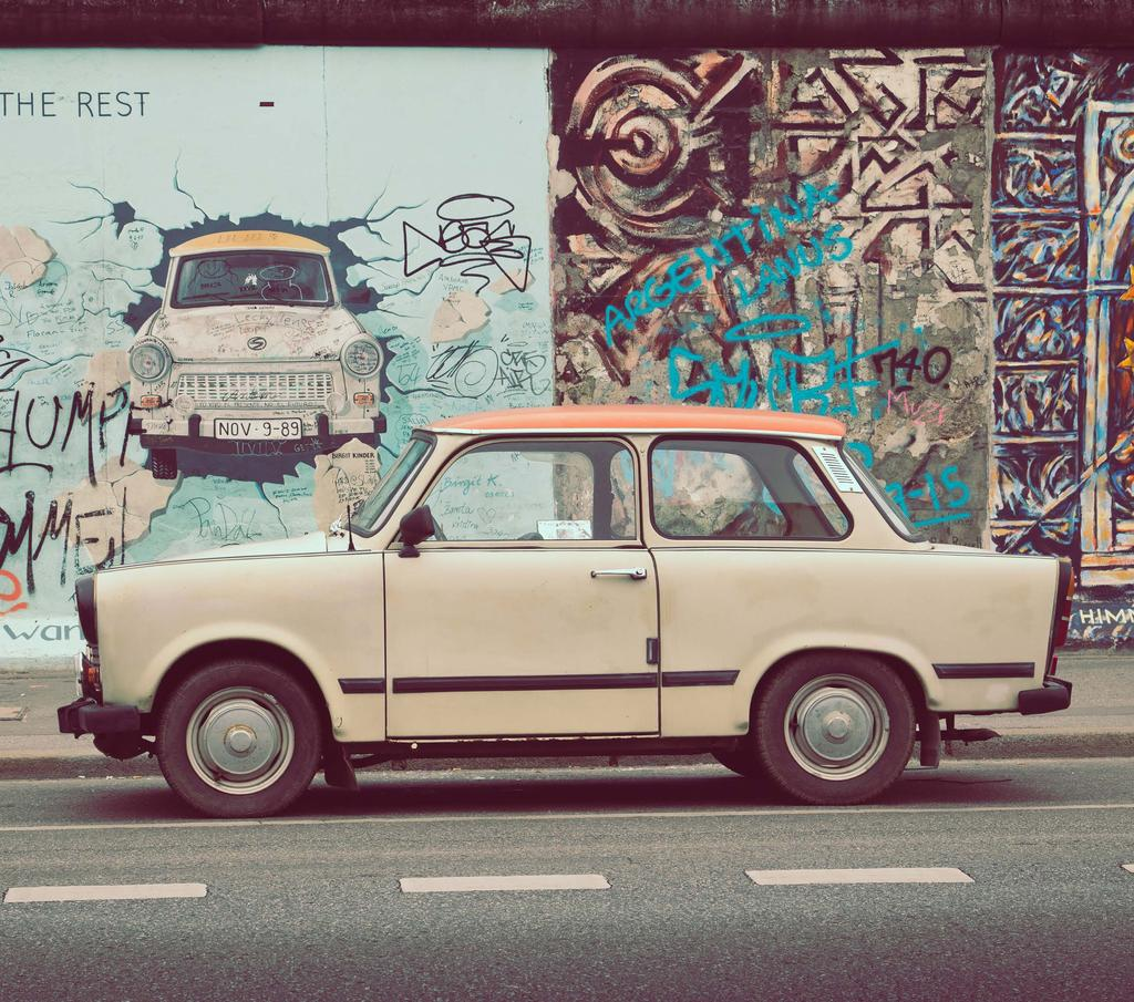 CITY ACTIVITIES FOR GROUPS EASY RIDER Trabi tours Hit the road in historical Trabant cars nostalgic symbols of the city for a four-wheeled