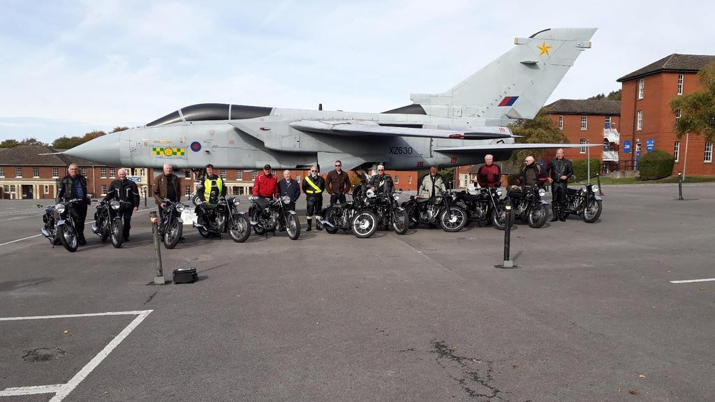 Woburn Centre Newsletter for October 2018 The line-up of bikes that were there for the photo after the visit Hi the October issue is full of interest especially our trip to RAF Halton.