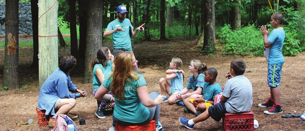 OUTDOOR EDUCATION YMCA Camp Eberhart is situated on 200 wooded acres with over a mile of shoreline on Corey Lake. Because of this we are a perfect place to open students eyes to the wonders of nature.