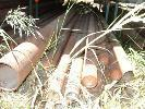 LARGE QUANTITY ASSORTED HEAVY STEEL PIPE,