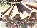 STEEL PIPES, CONTENTS 1 STILLAGES 614 MASSIVE QUANTITY VARIOUS DIAMETER STEEL