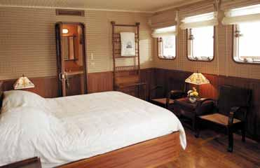 the early 20th century. This is a truly enchanting experience & is, unquestionably, the most magnificent way to see Halong Bay. Daily departures. 1 double or 2 single beds.