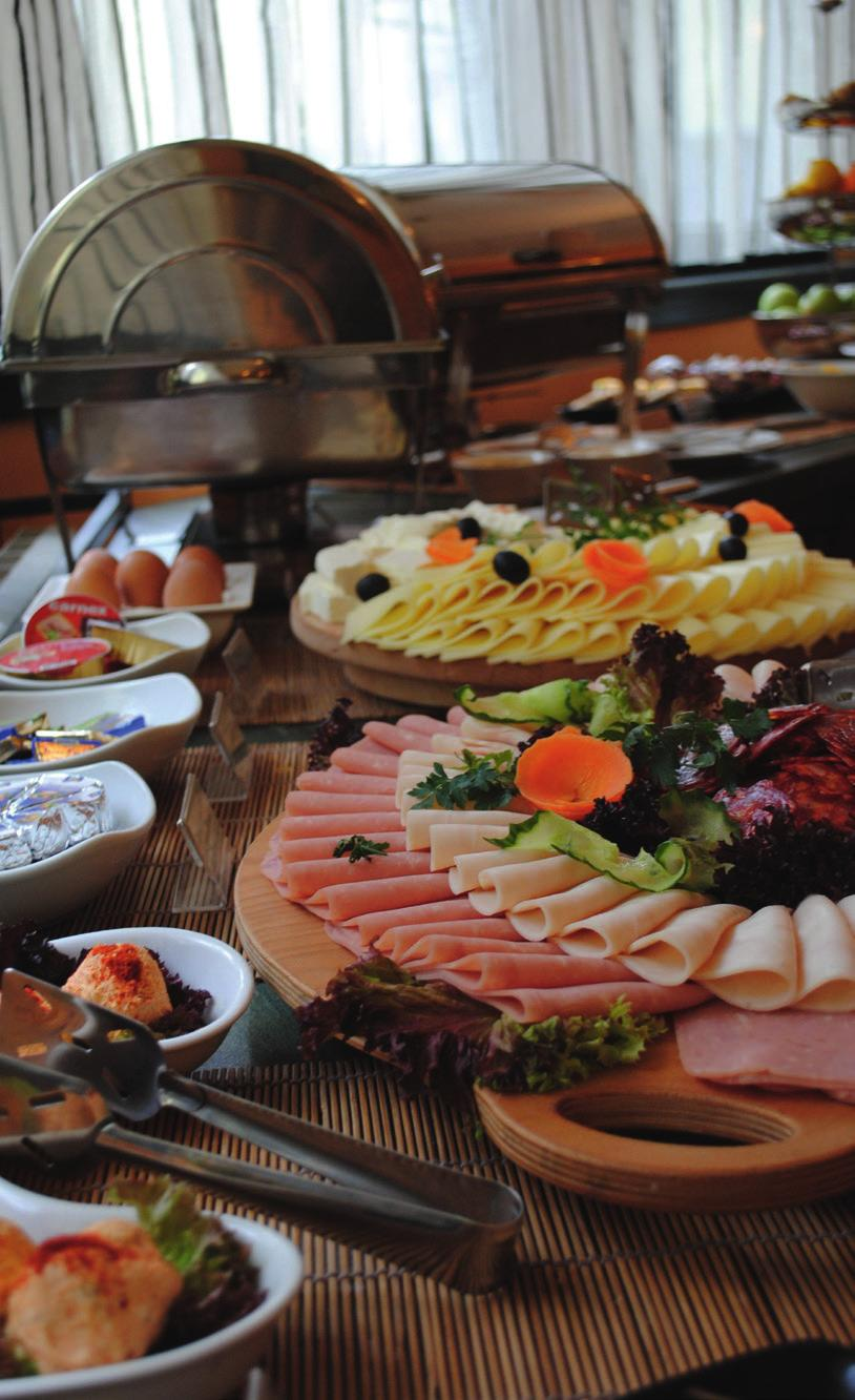 FOOD & BEVERAGE Our buffet breakfast has a wide offer of