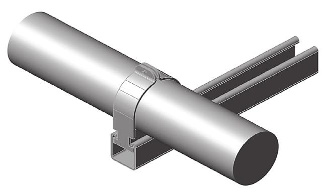 "PRODUCT SPECIFICATIONS 0F Strut Clamp Pipe & Conduit Size: Steel pipe sizes 2"" through 0"" Finish: Electro-Galvanized Pipe clamps are designed to fit into the opening of 5 /8"" wide channel profiles"