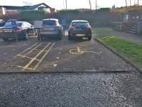Parking spaces for Blue Badge holders do not need to be booked in advance. The Blue Badge bays are located on the access road but are shared with hotel users.