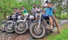 All of us have Royal Enfield when our caravan paased away from distant ways then people