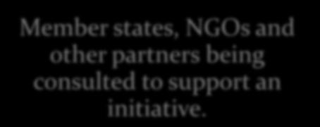 technical support to Member states, NGOs and