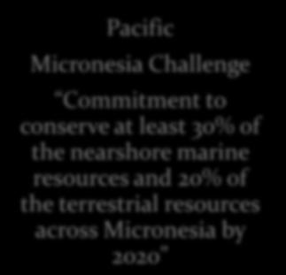 associated with the initiative by 2020 Pacific Micronesia Challenge