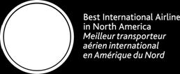 "Reid, Air Canada was the preferred airline for more than 79 percent of frequent business travellers in Canada Winner for the 5 th consecutive year of ""Best Flight Experience"